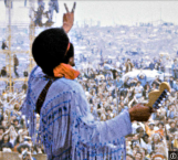 1969 Hendrix at Woodstock